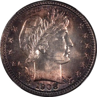 BARBER QUARTER DOLLAR (1892-1916)