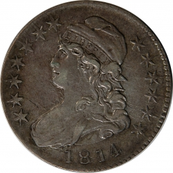 1814 Capped Bust Half Dollar PCGS XF40 CAC O-106